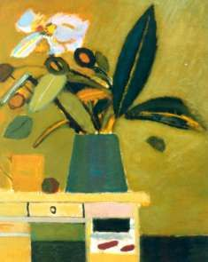 Fikus on a desk Still Life, Desk, Paintings, Frames, Templates, Art, Night, Desktop, Paint