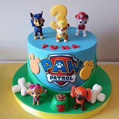Paw Patrol Birthday Cake, 4th Birthday Cakes, Paw Patrol Party, Bolo Do Paw Patrol, Torta Paw Patrol, Rubble Paw Patrol Cake, Snowflake Wedding Cake, Vintage Cake Toppers, Cakes For Boys