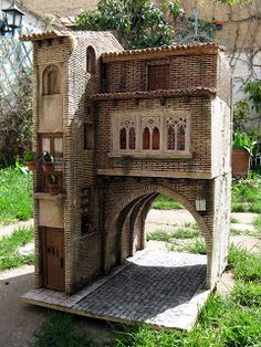 CREACIONES SANCHO: Arco del Dean Garden Nook, Fairytale House, Outdoor Office, Medieval Houses, Wargaming Terrain, Gate House, English House, Fairy Houses, Doll Houses