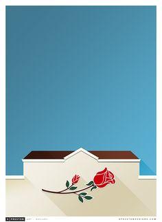 Minimalist Rose Bowl by sprestondesigns.com | UCLA