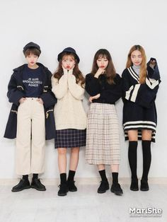 Look at this Stylish korean street fashions casual outfit in blue beige and white Korean Fashion Trends, Korean Street Fashion, Korea Fashion, Asian Fashion, Teen Fashion, Winter Fashion, Fashion Outfits, Fasion, Grunge Style