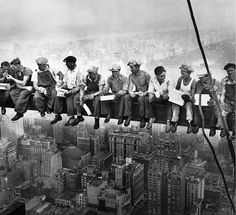 ...¨Lunch atop a Skyscraper¨ -1932, Sept. 29. First published @ New York Herald Tribune -Oktober 2