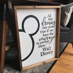 All of our Dreams Can Come True {Walt Disney} - Home Decor Ideas Walt Disney, Deco Disney, Disney Dorm, Disney Home Decor, Disney Crafts, Disney Kitchen Decor, Disney Wall Decor, Disney Room Decorations, Diy Disney Gifts