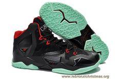 promo code 6717d a39d4 Nike Lebron XI Noir Vert Rouge En Ligne Nike Tights, Nike Boots, Nike Lebron