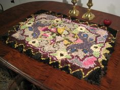Antique 1800's Beautiful Hooked Rug Sold North Bayshore Antiques