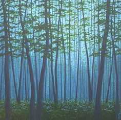 25 OFF  Large Forest Print  Sunday in the Woods by DreamGallery, $21.00