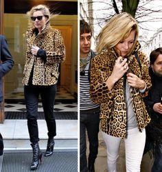 Shorter leopard jacket
