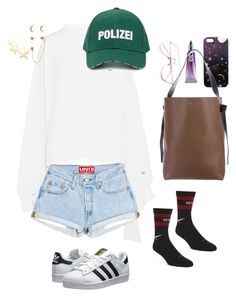 """""""hipsters"""" by liu-jianmeng on Polyvore featuring Vetements, adidas Originals, Nikki Strange, Urban Decay, CÉLINE, Accessorize and Kenneth Jay Lane"""