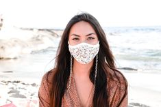 SKOVA's Summer Mask Saver, crossbody chain necklace! - SKOVA Beach Family Photos, Beach Photos, Mask Online, Kawaii Accessories, Sunset Pictures, Vintage Leather, Cute Hairstyles, Organic Cotton, Summertime