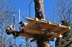 LA VALLE CHE RESISTE: La casetta sull'albero ha preso forma...