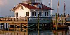 Roanoke Marshes Lighthouse makes a beautiful setting for an Outer Banks destination wedding.