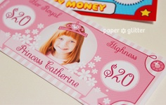 Printable Play Money with your kids photos in them  :)