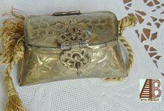 Brass Minaudiere Flapper Bag Purse Handbag by AtticBasement, $60.00