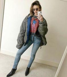 Instagram Photo by Sara Boruc MANNEI🎶 (@mannei_is_her_name) | WEBSTAGRAM Military Jacket, Celebrity Style, Names, Celebrities, Jackets, Instagram, Fashion, Down Jackets, Moda