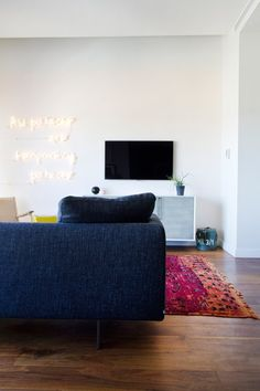 Get the Look for Less: Rebekah's High-End, High-Up, Dreamy Digs — Professional Project  Potential living room furniture arrangements