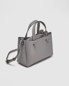 Image 2 of CITY BAG WITH INSIDE ZIP from Zara