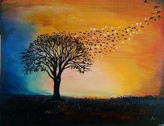 An Art Celestial, Sunset, Crafts, Painting, Outdoor, Art, Outdoors, Art Background, Manualidades