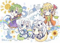 Akatsuki no Yona 4 dragons chibi