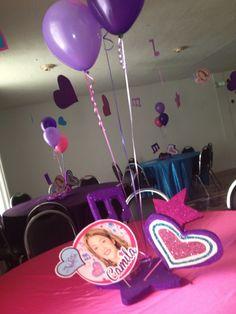 #violetta centerpiece / centros de mesa piñata violetta