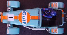 Caterham in Gulf Livery. Here at Hillbank, we love this color combination for these Caterhams.