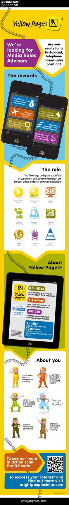 New Jobgram: Australia's Yellow Pages® is hiring telephone based Media Sales Advisors http://getajobgram.com/post/24986591742/yellowpagestsales