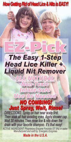EZ-Pick Label Lice Remedies, Label, How To Apply, Easy