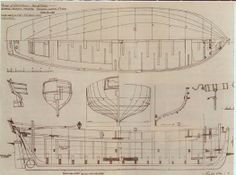 "Plans of ""Peggy"", 18th century Manx yacht"
