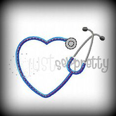 Mini Heart Stethoscope Embroidery Applique Design by justsewpretty, $4.00