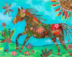 Rosenberry Rooms has everything imaginable for your child's room! Share the news and get $20 Off  your purchase! (*Minimum purchase required.) Pretty Pony Ride Art Print