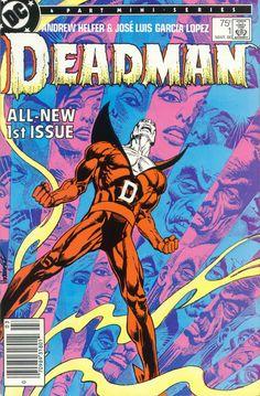 Deadman #1, March 1986, cover by Jose Luis Garcia-Lopez