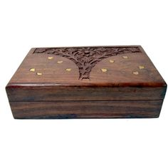 http://www.maddycrafts.com/home-decoratives/odilon-wooden-carving-jewellery-box-501 #maddycrafts #wooden  #carving