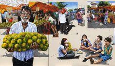 Telas de Fábio Barolli podem ser conferidas na Galeria Luiz Fernando Landeiro, no Rio Vermelho.