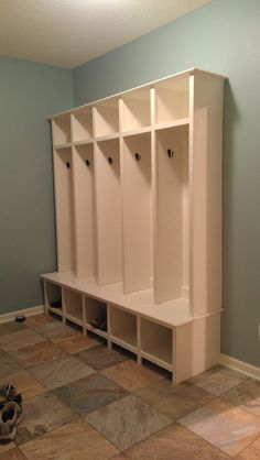 Make your own storage lockers perfect for kids one creative mudroom lockers do it yourself home projects from ana white solutioingenieria Gallery