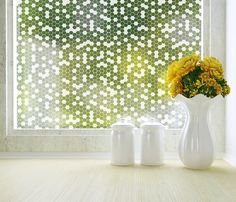 "PureModern | Honeycomb Privacy Window Film (Adhesive) Large Roll - 48"" x 84"" - need 2 (one for each pane) - $179 each"