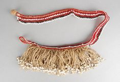 Apron made of glass beads. Xhosa, British Museum, African Art, Tassel Necklace, Glass Beads, Tassels, Apron, Detail, Jewelry