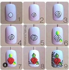 Manicure Diy At Home Step By Step Tutorials 47 Ideas Hard Nails, Thin Nails, Nail Art Hacks, Nail Art Diy, Colorful Nail Designs, Nail Art Designs, Diy Nails Cute, Do It Yourself Nails, Nail Art Techniques