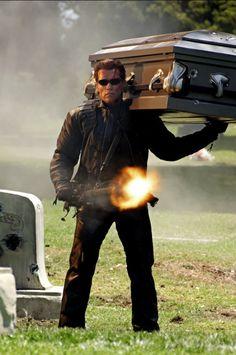 Arnold Schwarzenegger is back as Trench.