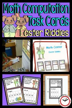 Addition practice for gr. with Easter Riddle Task Cards. Fun way to practice adding within 100 with no regrouping. Science Resources, Classroom Resources, Teaching Resources, Teaching Activities, Teaching Ideas, Math Journal Prompts, Math Journals, Easter Riddles, Spring Activities