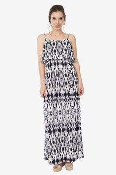 Double Layer Maxi Dress by Octavia at Le Tote