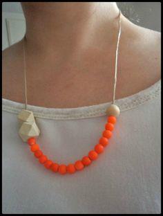 Mes bijoux d'été Collier DIY perles en bois Cam&Drey bricolent...