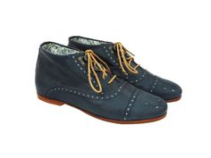 saw woman on college ave wearing this brand of shoes. small producer Josefina Oxford Flat Bootie