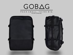 GOBAG - A Vacuum Compressible Carry-On Bag For Any Adventure by James Fyfe — Kickstarter | Gentlemint