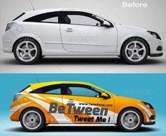 Car Branding Mockup | allpsd.net