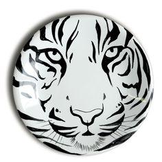 Petite assiette tigre en faience de la Faiencerie Georges