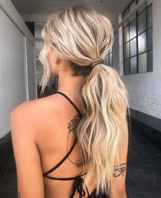 Wedding Ponytail Hairstyles, Homecoming Hairstyles, Dance Hairstyles, Ponytail Bridal Hair, Latest Hairstyles, Prom Hair Up, Simple Prom Hair, Blonde Prom Hair, Blonde Ponytail