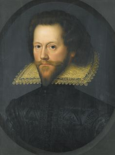 By William Larkin, a Portrait of Grey Brydges, 5th Baron of Chandos (1578-1621).  Descended from John of Gaunt via his daughter Elizabeth.  Married Lady Anne Stanley, daughter of Tudor heir Ferdinando Stanley, Earl of Derby.