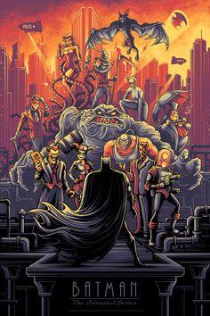 Batman The Animated Series Variant Print Dan Mumford Bottleneck NYCC Pre-Order Batman Poster, Batman Artwork, Batman Comic Art, Batman Wallpaper, Hd Wallpaper, Wallpapers, Art And Illustration, Foto Batman, Dan Mumford