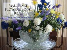 Make Fake Flowers Look Real - Florist's Tricks