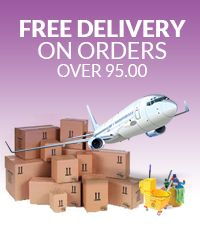 Free delivery on all orders over £95.00 at Astral Hygiene Cleaning Supplies