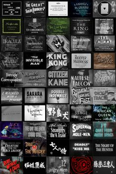 110 years of title cards [x] 1902 - 2012